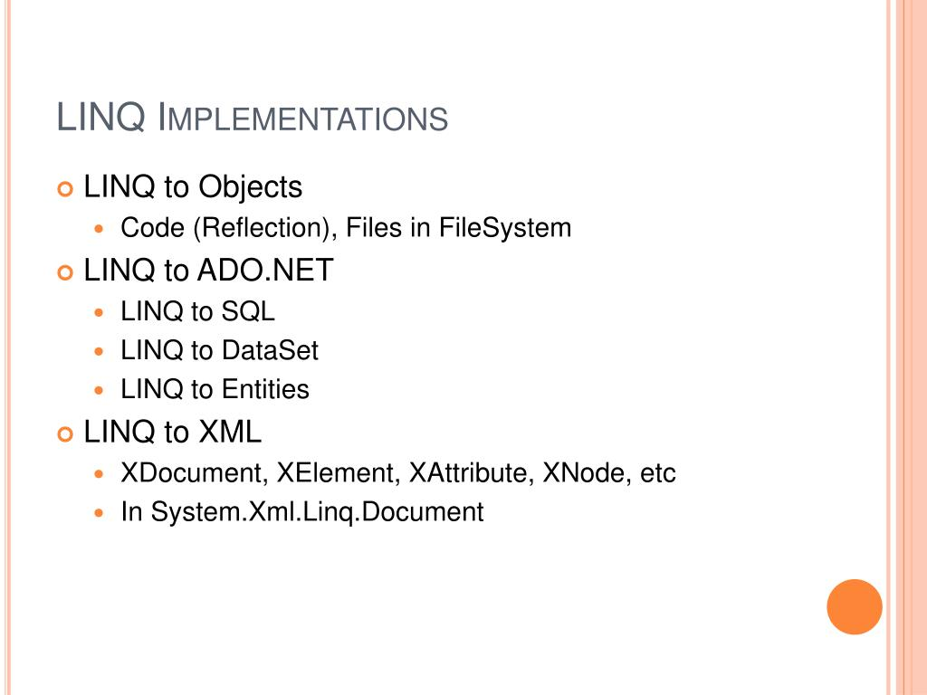 LINQ Implementations