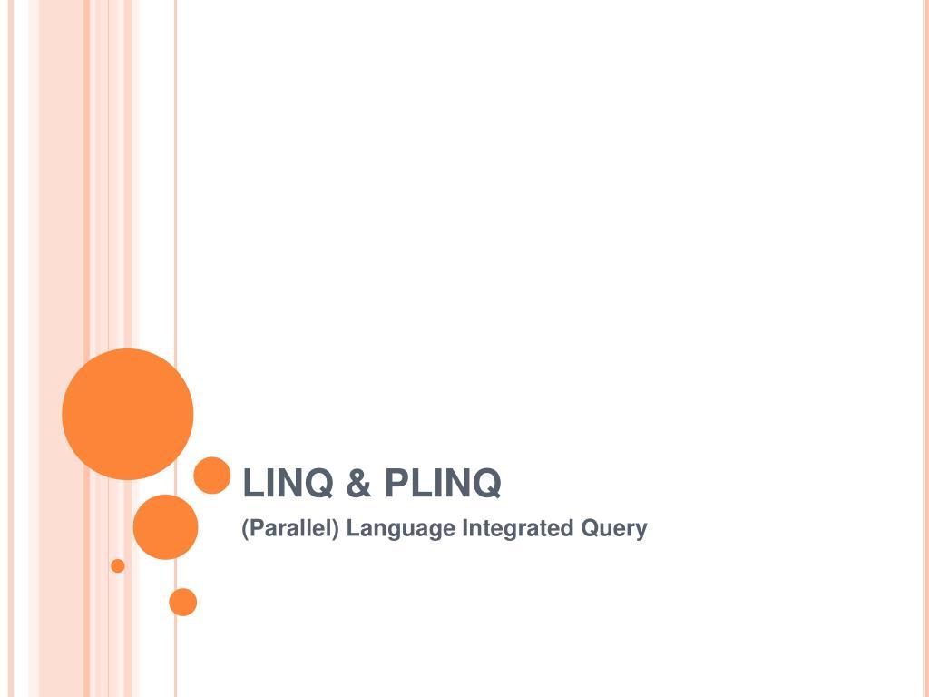 LINQ & PLINQ