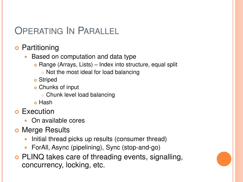 Operating In Parallel