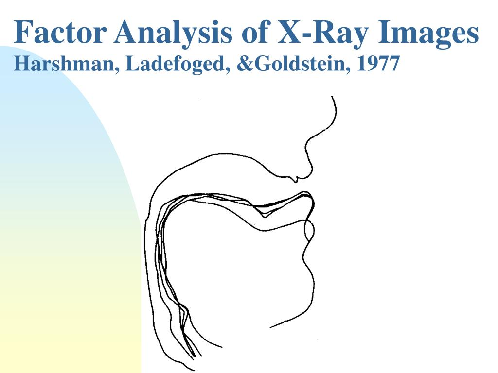 Factor Analysis of X-Ray Images