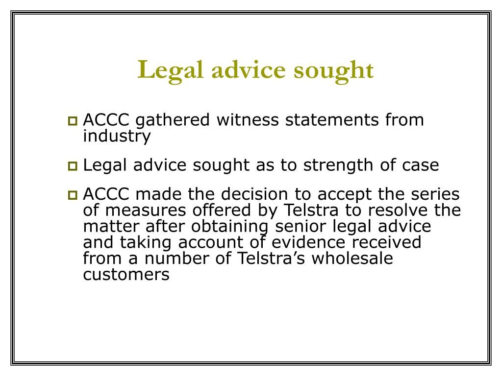 Legal advice sought
