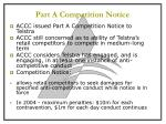 part a competition notice