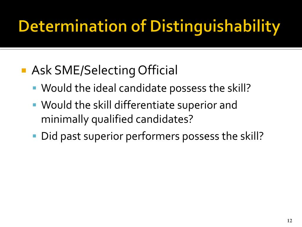 Determination of Distinguishability