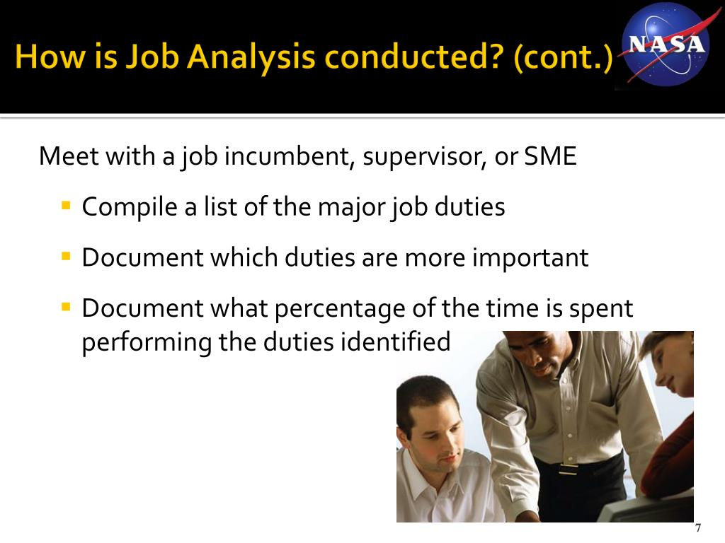 How is Job Analysis conducted? (cont.)