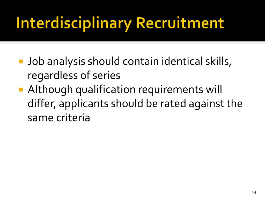 Interdisciplinary Recruitment