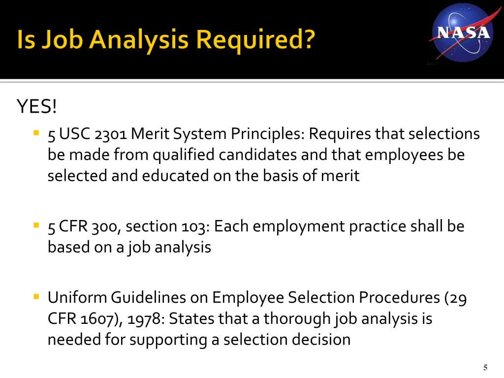 Is Job Analysis Required?