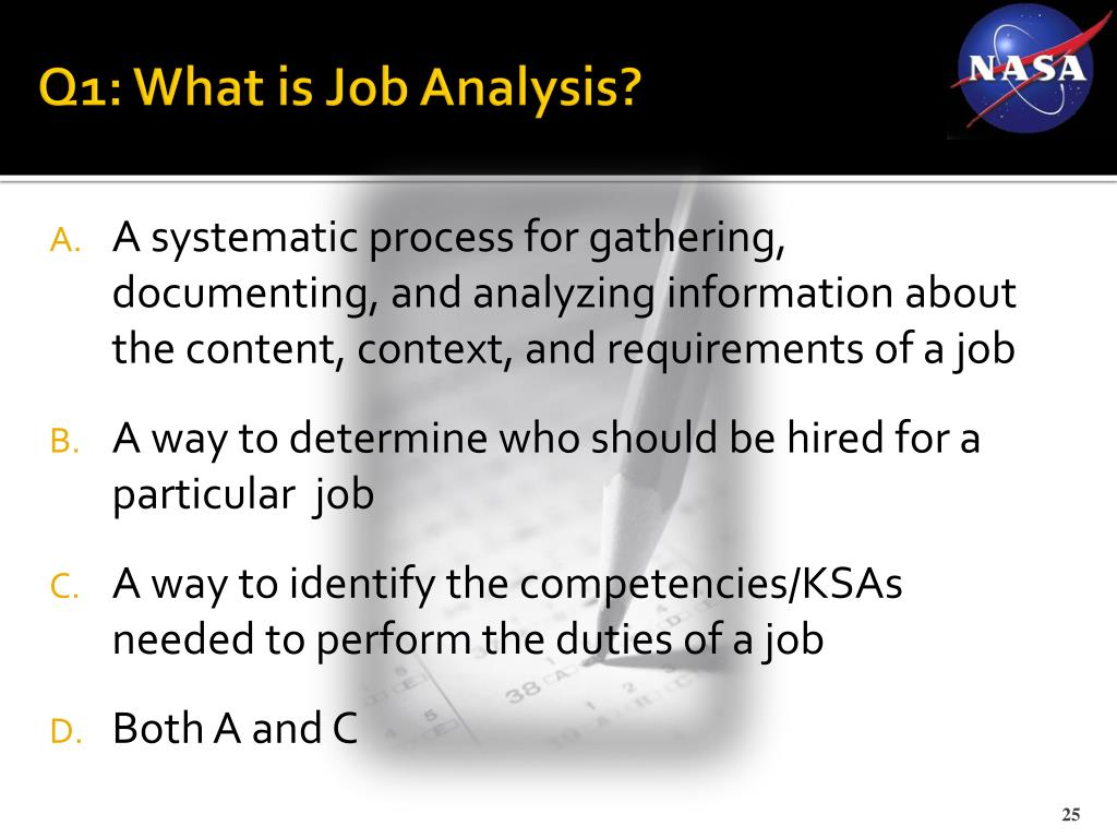 Q1: What is Job Analysis?