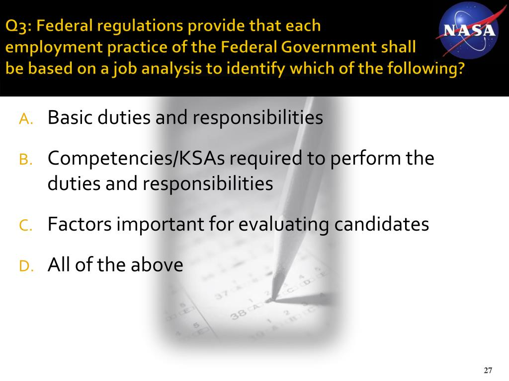 Q3: Federal regulations provide that each
