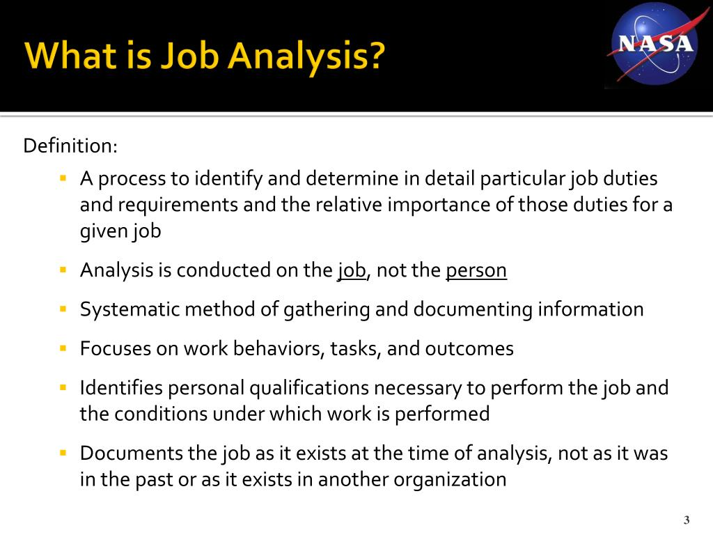 What is Job Analysis?