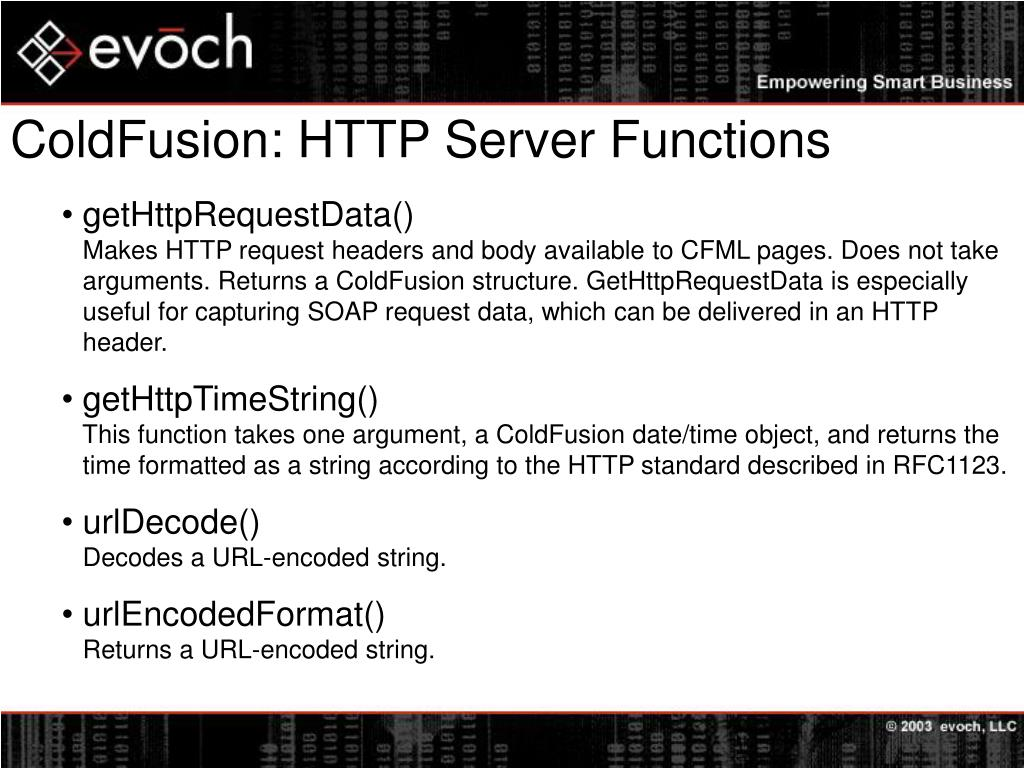 ColdFusion: HTTP Server Functions