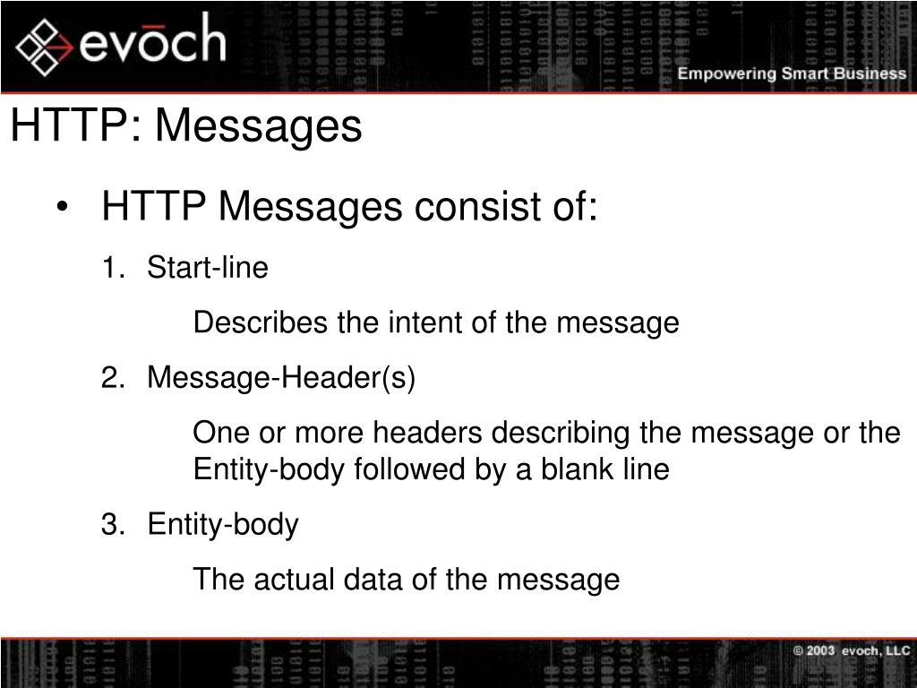 HTTP: Messages