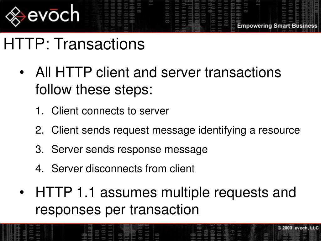 HTTP: Transactions