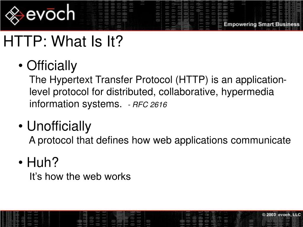 HTTP: What Is It?
