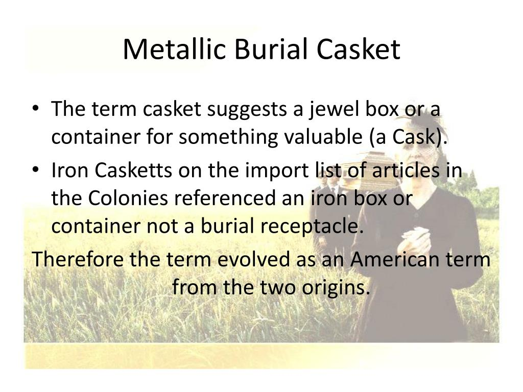Metallic Burial Casket