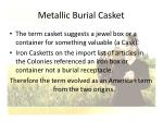 metallic burial casket30