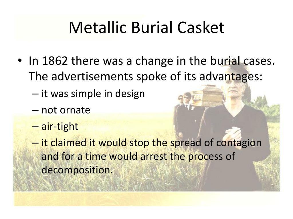 Metallic Burial Casket
