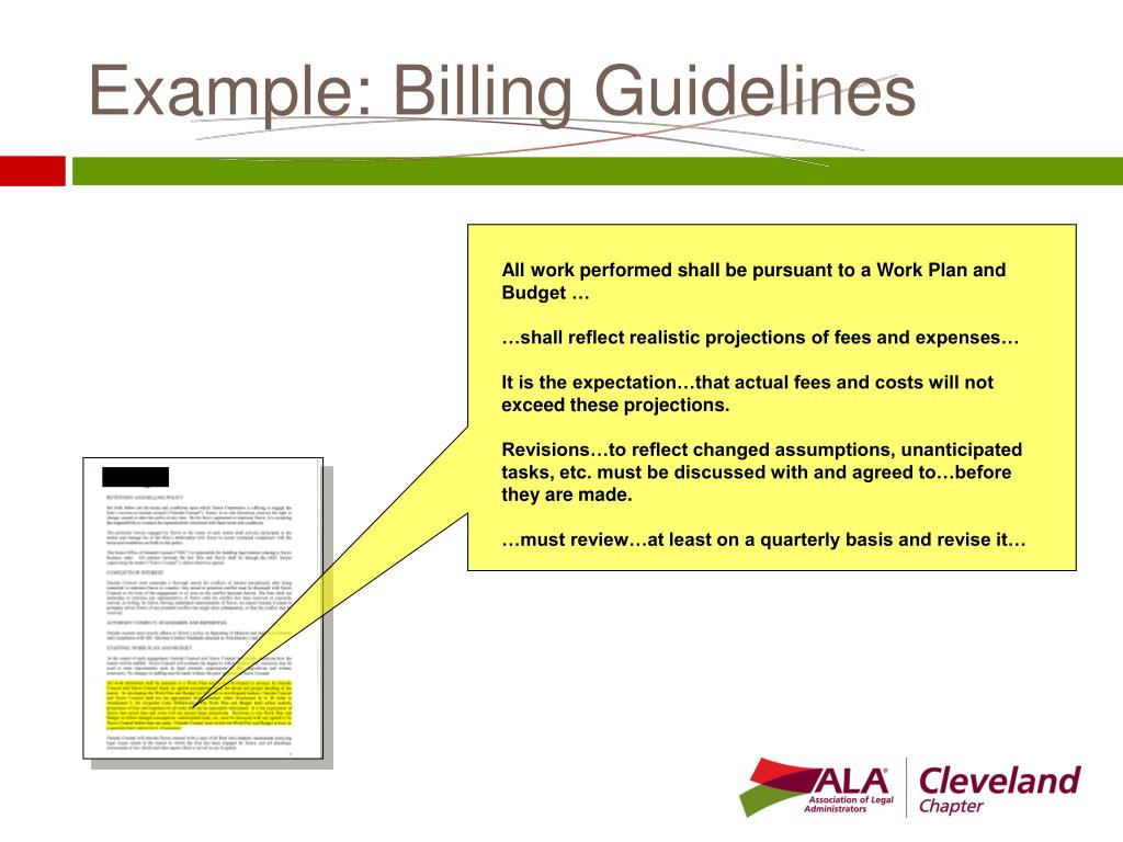 Example: Billing Guidelines