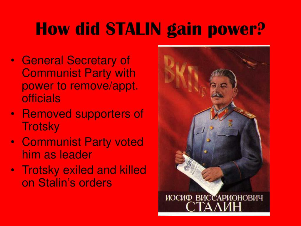 How did STALIN gain power?
