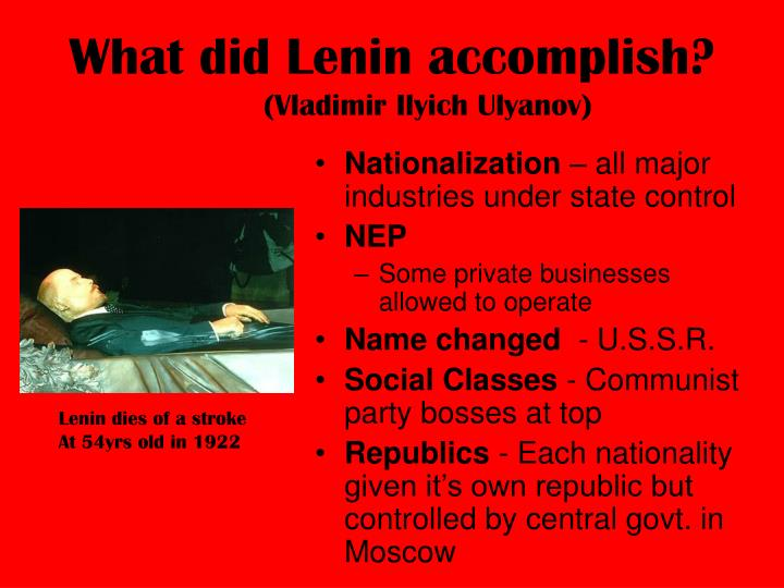 What did lenin accomplish vladimir ilyich ulyanov l.jpg
