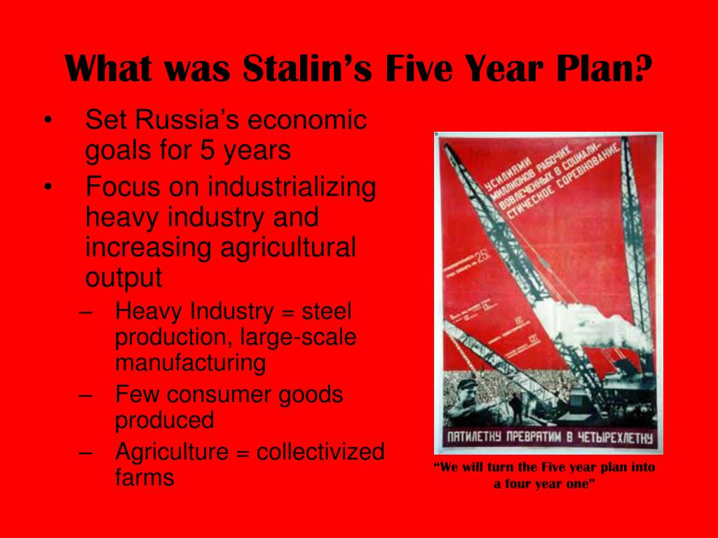 What was Stalin's Five Year Plan?