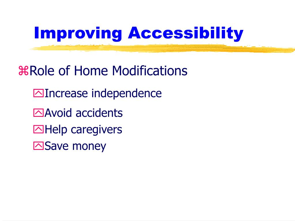 Improving Accessibility