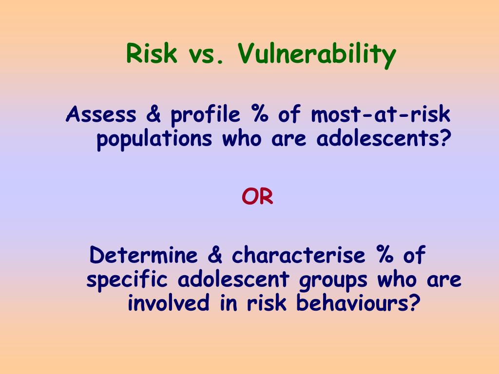 Risk vs. Vulnerability