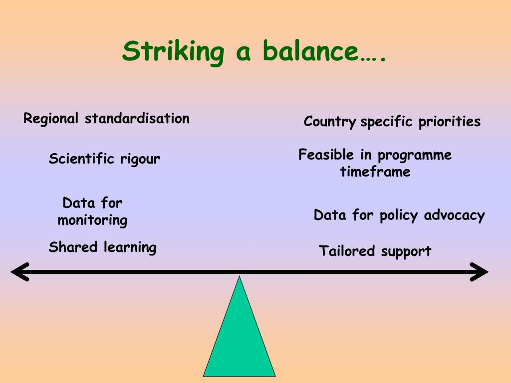 Striking a balance….