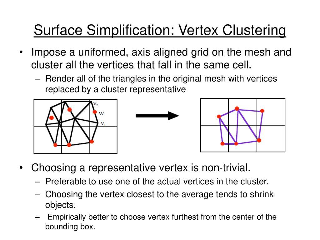 Surface Simplification: Vertex Clustering
