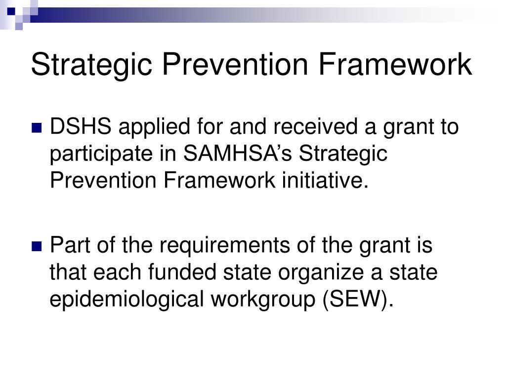 Strategic Prevention Framework