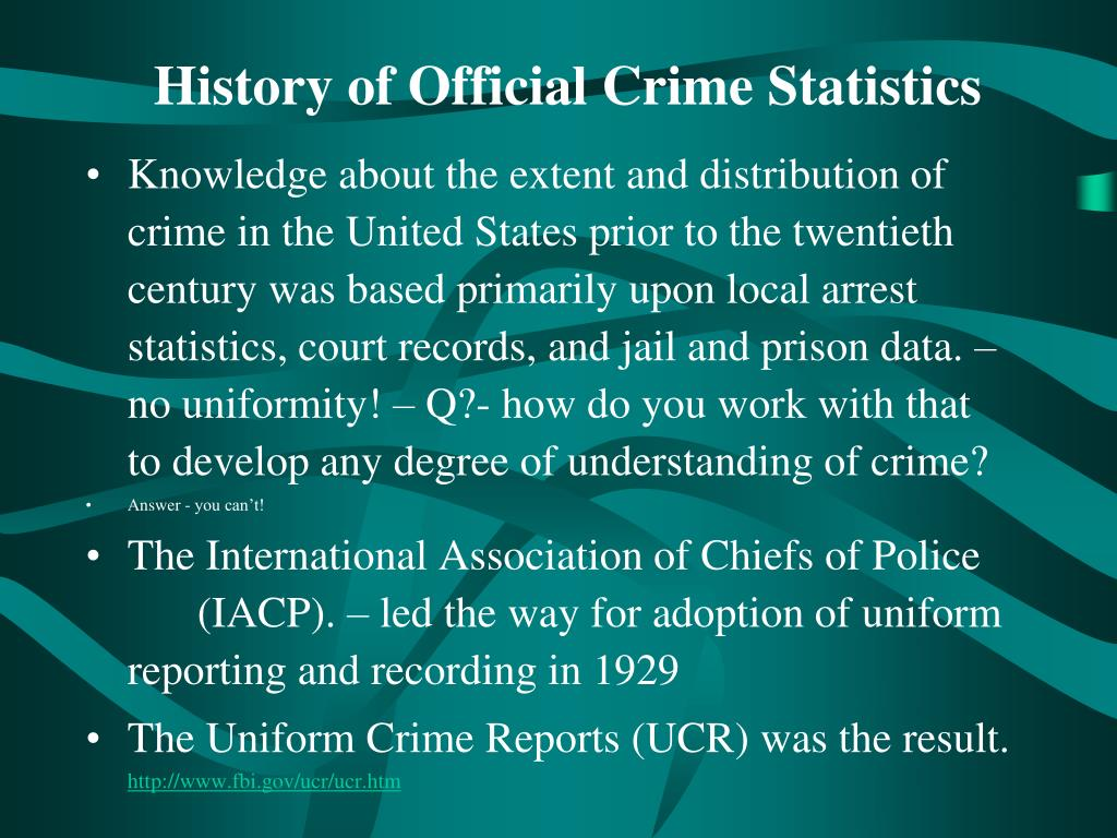 History of Official Crime Statistics
