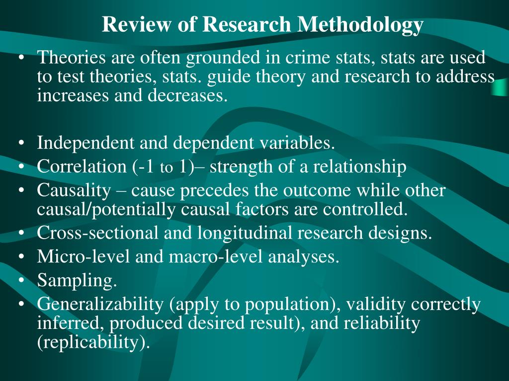Review of Research Methodology