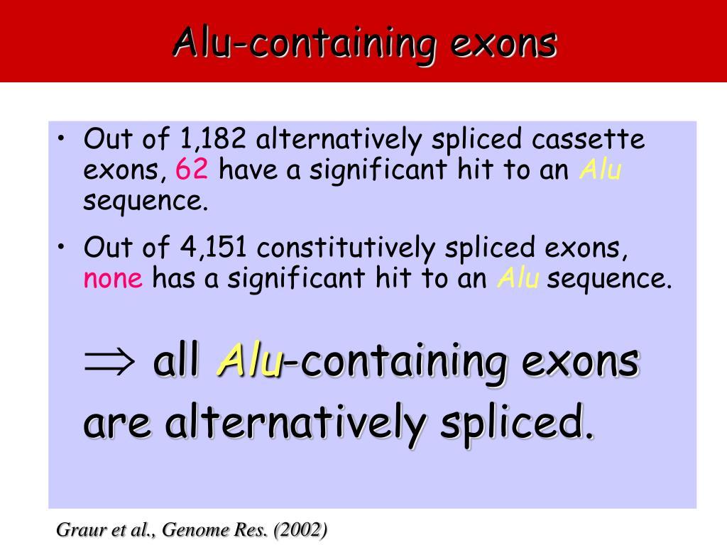 Alu-containing exons