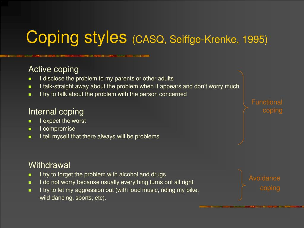 Coping styles