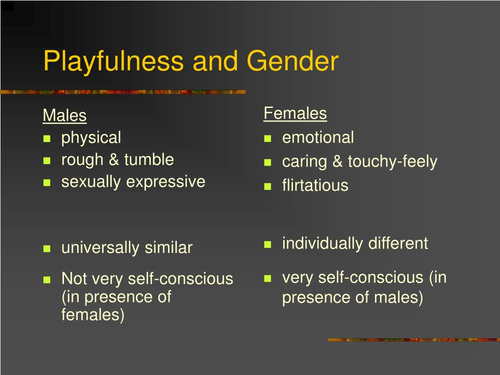 Playfulness and Gender