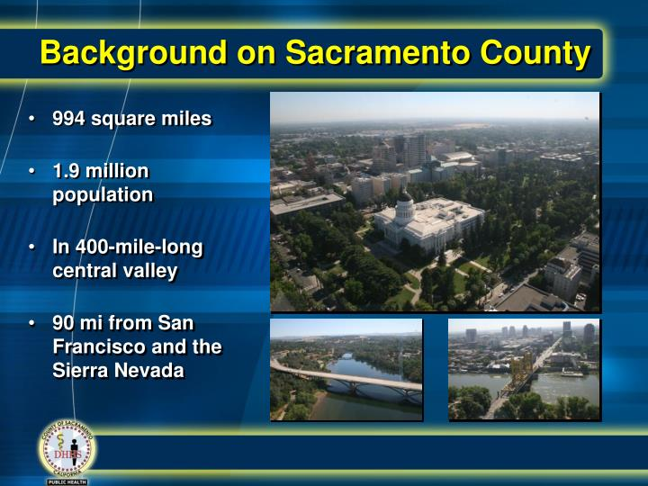 Background on sacramento county