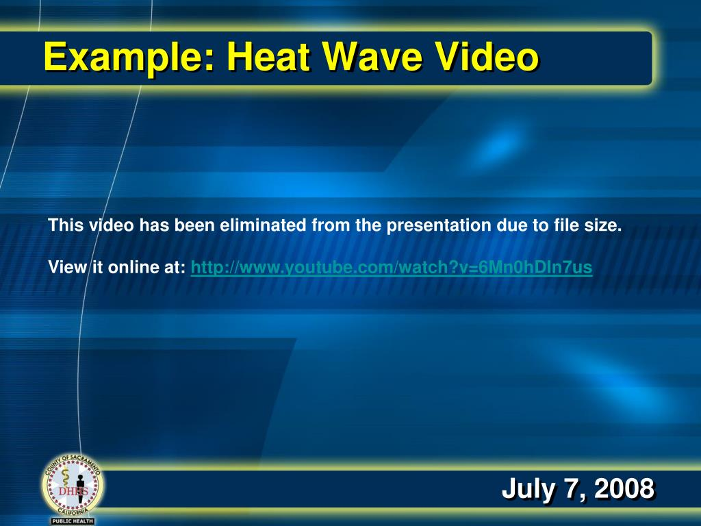Example: Heat Wave Video