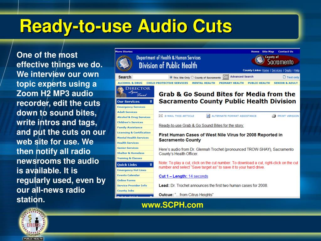Ready-to-use Audio Cuts
