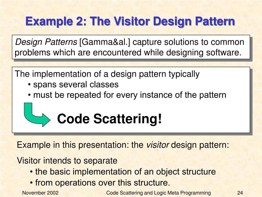 Example 2: The Visitor Design Pattern