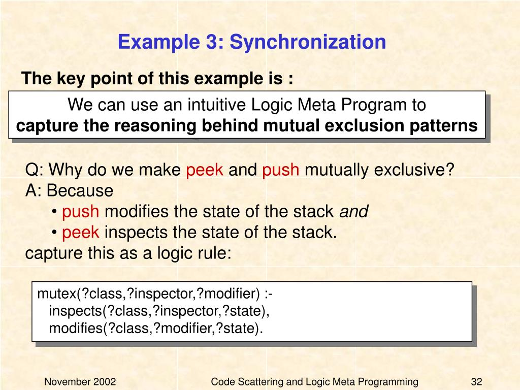 Example 3: Synchronization