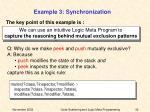 example 3 synchronization