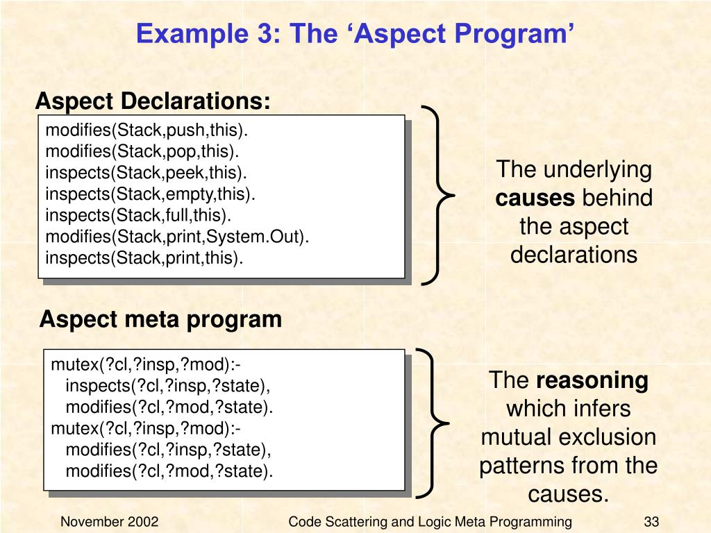 Example 3: The 'Aspect Program'