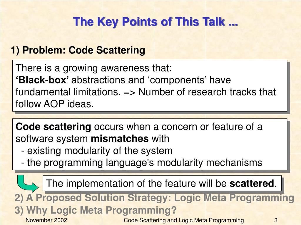 The Key Points of This Talk ...