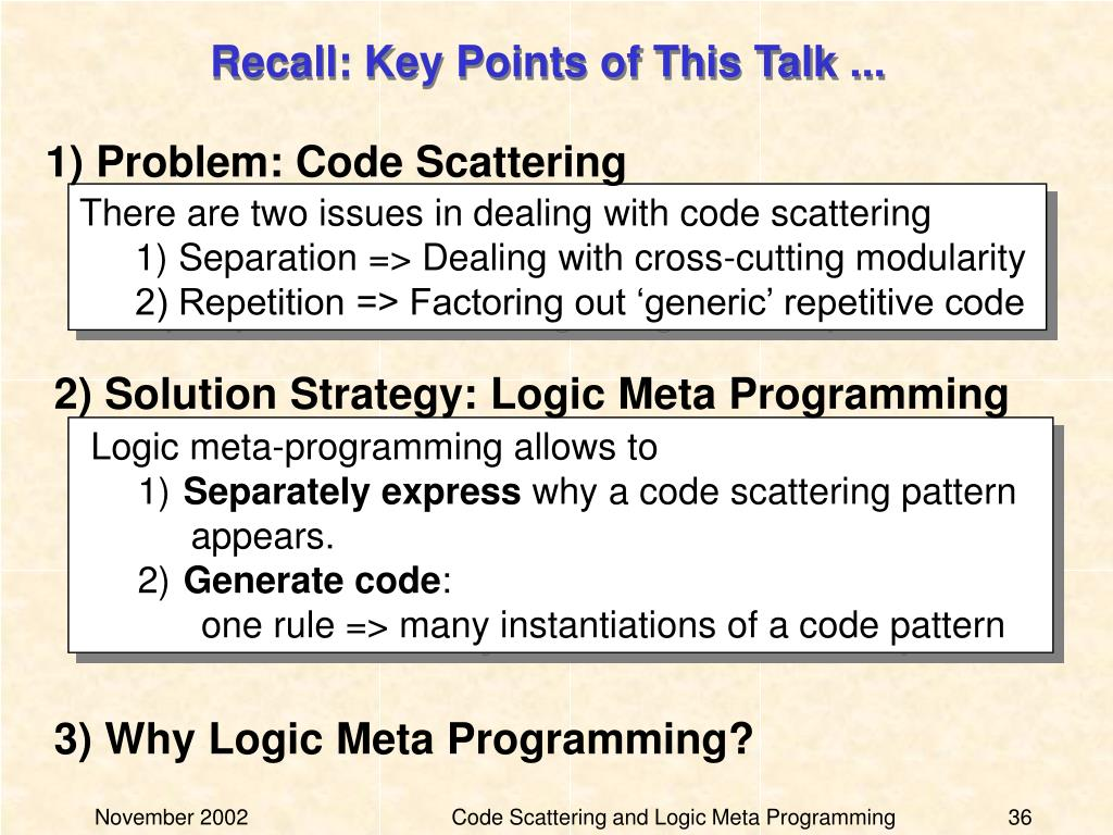 Recall: Key Points of This Talk ...