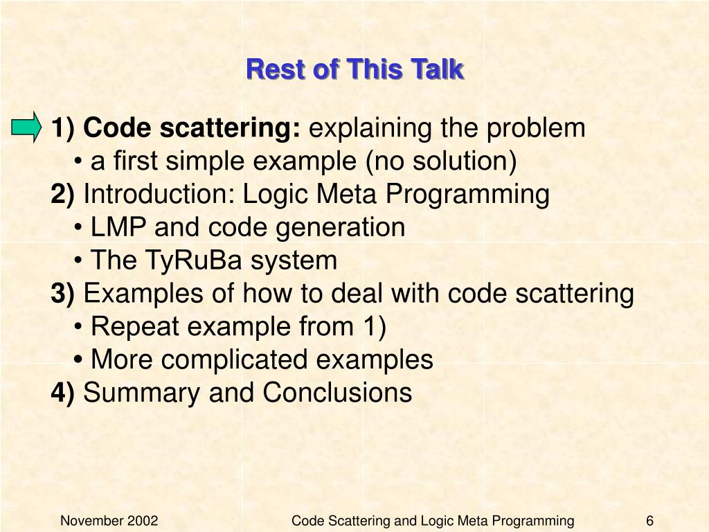 Rest of This Talk