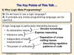 the key points of this talk5