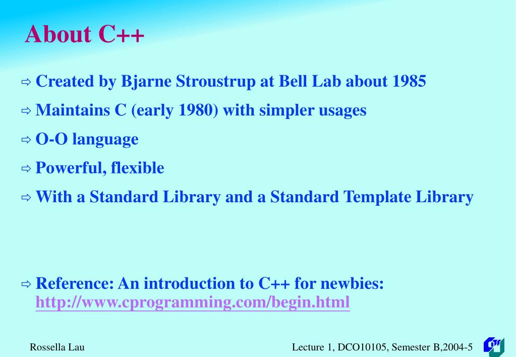 About C++