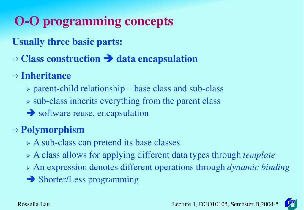 O-O programming concepts