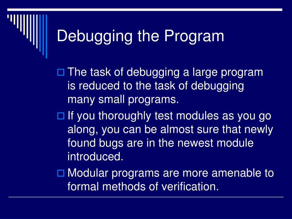 Debugging the Program