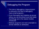 debugging the program