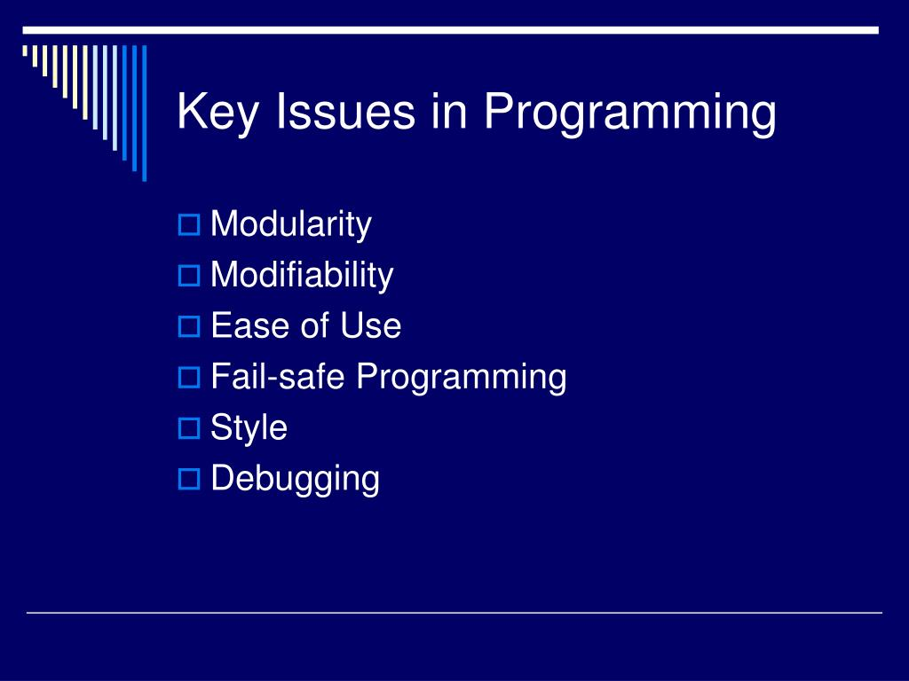 Key Issues in Programming